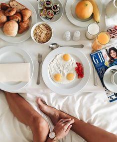 breakfast in bed Breakfast In Bed, Sweet, Food, Bed And Breakfast, Candy, Essen, Meals, Yemek, Eten