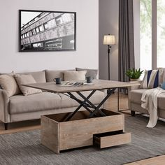 Carbon Loft Meadmore Convertible Storage Coffee Table to Dining Table, Brown – Food: Veggie tables Coffee Table Height, Coffee Table To Dining Table, Dining Room Bar, Sofa End Tables, Coffee Table With Storage, Coffee Table Design, Coffee Tables, Wood Table, Furniture Deals