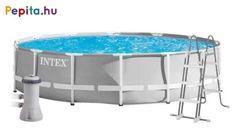 Az Intex Prism Frame medence szett egyaránt ideális nagyobb és kisebb családok számára is. Nyári kikapcsolódások során a család minden tagjának nagyszerű élményt nyújt! A medence papírszűrős vízforgatóval van ellátva, amely mindig garantálja a megfelelő vízminőséget.    Jellemzői:  - Mérete: 610x132 cm  - Szűrő teljesítménye: 5 678 l / óra  - Vízkapacitás: 32695 l  - Súly: 118,6 kg    A csomag tartalma:  - Medence  - Medence takaró  - Medence alátét  - Létra  - Papírszűrős vízforgató Minion, Bathtub, Kitchen Appliances, Frame, Products, Standing Bath, Diy Kitchen Appliances, Picture Frame, Bathtubs