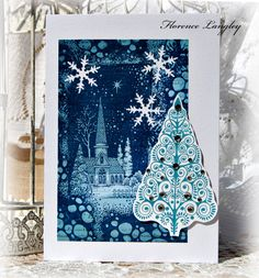 Christmas Cards - Using Chocolate Baroque Stamps