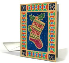 Joyeux Noel Christmas Stocking Card #christmascards - http://www.greetingcarduniverse.com/holiday-cards/christmas-cards/french/joyeux-noel-536951?gcu=43752923941