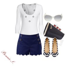 """""""nautical"""" by bonnaroosky on Polyvore...too cute!"""