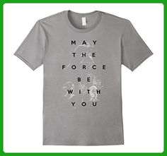 Mens Star Wars May the Force Be With You Retro Graphic T-Shirt    XL Slate - Retro shirts (*Amazon Partner-Link)