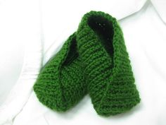 knitted kimono slippers
