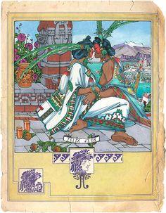Items similar to Las Princesas Mexicas a Lesbian Gay Aztec Mexican Women Art Felix dEon - Large Print on Etsy Lesbian Art, Gay Art, Viking Symbols, Mayan Symbols, Egyptian Symbols, Viking Runes, Ancient Symbols, Living In Mexico City, American Indian Tattoos