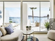 A deluxe junior suite with its sea views of Talamanca Bay