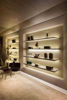 (20) HydeCorner Tv Wall Design, Wall Shelves Design, House Design, Store Interiors, Office Interiors, Hallway Designs, Home Decor Furniture, Home Bedroom, Living Room Designs
