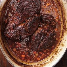 Discover recipes, home ideas, style inspiration and other ideas to try. Meat Recipes, Slow Cooker Recipes, Cooking Recipes, Vegetarian Recipes, Cross Rib Roast, Rib Roast Recipe, Ricardo Recipe, Confort Food, Easy To Cook Meals
