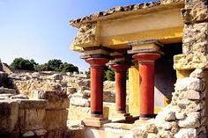 Scavi della città di Cnosso, ca 1700-1400 a.C., a Creta. E' stata restaurata.