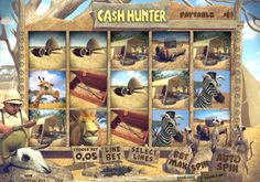 Take a trip to Africa with our new 3D safari slot Ca$h Hunter! You'll be taken on bonus rounds in a Jeep and meet animals from terrifying lions all the way to harmless Meerkats throughout! This 30 payline, 5 reel and 3 row slot will have you entertained from the start to finish.    To enjoy the Ca$h Hunter 3D slot you can register with Castle Casino.