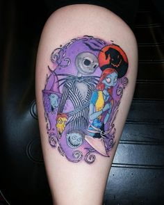 nightmare before christmas tattoo pictures Hot Tattoos, Small Tattoos, Sleeve Tattoos, Nightmare Before Christmas Tattoo, Kawaii Tattoo, Christmas Tale, Kawaii Halloween, Star Wars Tattoo, Tattoo Set