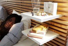 Tête de lit design et de rangement