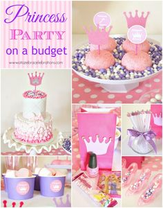 Happy Wednesday friends! I had fun setting up this Princess Party for one of my friends this past weekend. I was able to pull this off for less than $200! Check out all the great details………   All of t