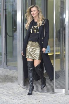 Joanna Krupa wearing over the knee boots