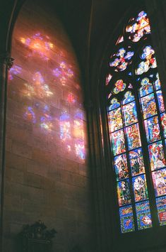 St. Vitus Cathedral, Prague. Amazing stained glass windows. #colourinspiration @intentjewellery