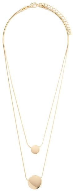 Forever 21 Layered Disc Necklace will go with any outfit for the office