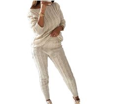 647257484f6 Cable Knit Sweater Set - Prima Dons   Donnas