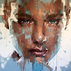 Jimmy Law painting style and technique is self-taught. As an artis Jimmy Law had a tendency to work in a very controlled and precise style. Abstract Faces, Abstract Portrait, Portrait Art, Abstract Art, Jimmy Law, Modern Art Movements, Photocollage, Painting People, Looks Cool