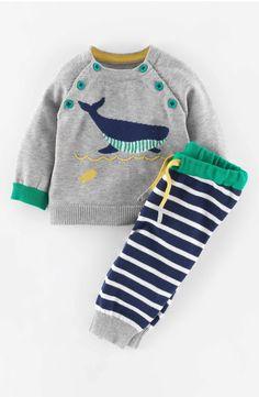 f38faf670f7 Mini Boden Knit Sweater   Pants (Baby Boys)