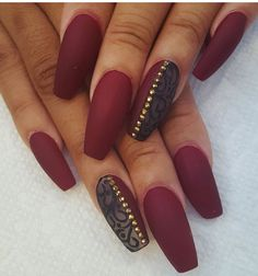 A manicure is a cosmetic elegance therapy for the finger nails and hands. A manicure could deal with just the hands, just the nails, or Maroon Nails, Blue Nails, Matte Nails, Stiletto Nails, Coffin Nails, Acrylic Nails, Glitter Manicure, Manicure Y Pedicure, Acrylic Nail Designs