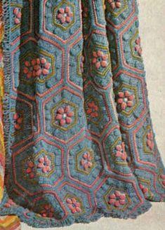 Hexagon Flowers Afghan
