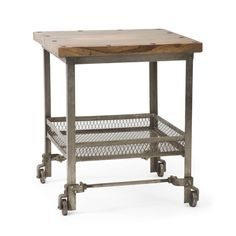 Nailed Down Side Table | dotandbo.com  You can never really go wrong with sturdy *moveable* storage, now, can you? *Bar cart*, anyone? Portable pantry?