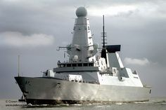 HMS Dauntless, the second of six formidable Type 45 air defence warships being built for the Royal Navy, arrives in her home port of Portsmouth, Hampshire for the first time.