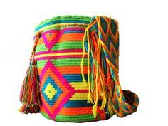 Summer Green Wayuu Mochila #mochila #wayuu #multicolor