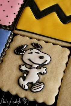 Peanuts cookies! The other cookies are decorated like the characters clothes!!:)