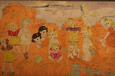 Henry Darger   detail of work from Intuit Museum, Chicago. Kelly Johnson on Flickr