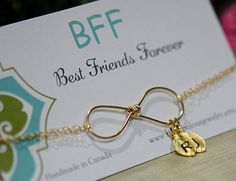 Infinity BRACELET Gold filled    by TheFabulousJewelry on Etsy, great gift idea for bffs, sisters, etc