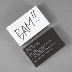 Business cards for Single Origin Roasters designed by Maud.