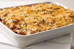 Here's a ground beef and rice casserole with all the Tex-Mex flavor they love: onions and peppers, tortilla chips, cilantro and a blend of cheeses.