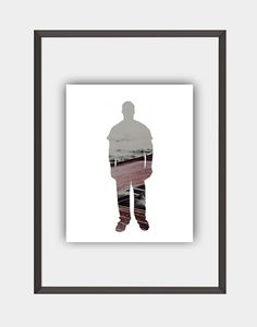 Man Hipster Photo Print Printable Wall Art Man by homefunkydesigns