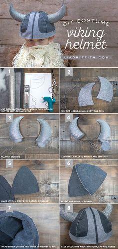DIY Wikinger Helm für starke Jungs // DIY Kid's Viking Costume