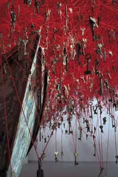 50,000 Keys Suspended From a Ceiling by Chiharu Shiota, Japan