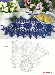 nice lacy doily! - I can see it much longer as a crochet table runner!