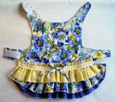 DOG Harness Dress 3 layered Ruffled Puppy dress Cat Ferret or small pet clothes