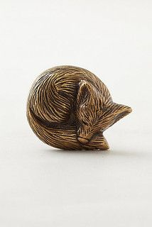 Forest Critter Knob, Fox - eclectic - knobs - by Anthropologie