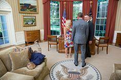 Zack und weg: Auch bei dem Präsidenten kann es mal sehr, sehr langweilig...