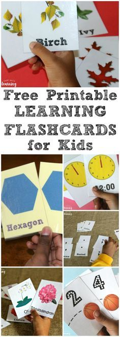 Pick up these free printable flashcards for preschoolers and elementary students!