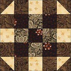 Round the Corner Quilt Block Pattern - Janet Wickell
