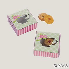 12 Tea Party Cookie Boxes