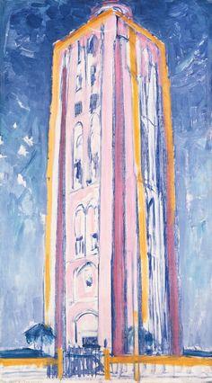 Piet Mondrian, Lighthouse at Weskapelle in Orange