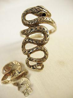 Slithering Snake sterling ring vintage