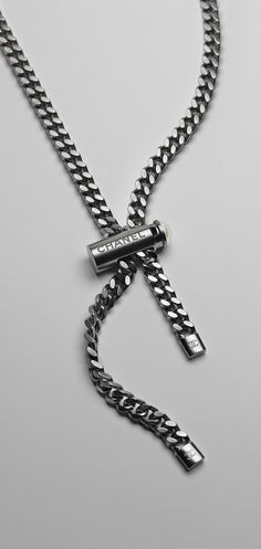 Metal and resin tie necklace - CHANEL