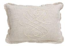 Chateau 14x20 Linen/Jute Pillow, Natural on OneKingsLane.com
