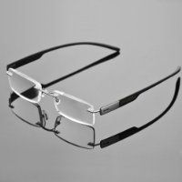 3df27153b8 1x Stylish Frameless Reading Glasses Fashion Reader Magnifying Men Eyeglasses  Eyewear with Portable Hard Case +