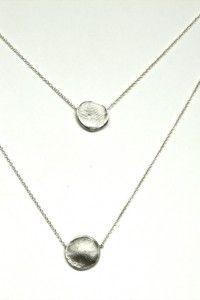 Silver Double Wrap Fingerprint Necklace