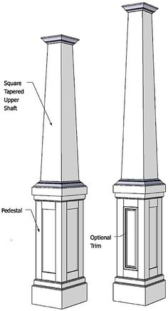 Details of a porch column with stone facade future for Tapered craftsman columns